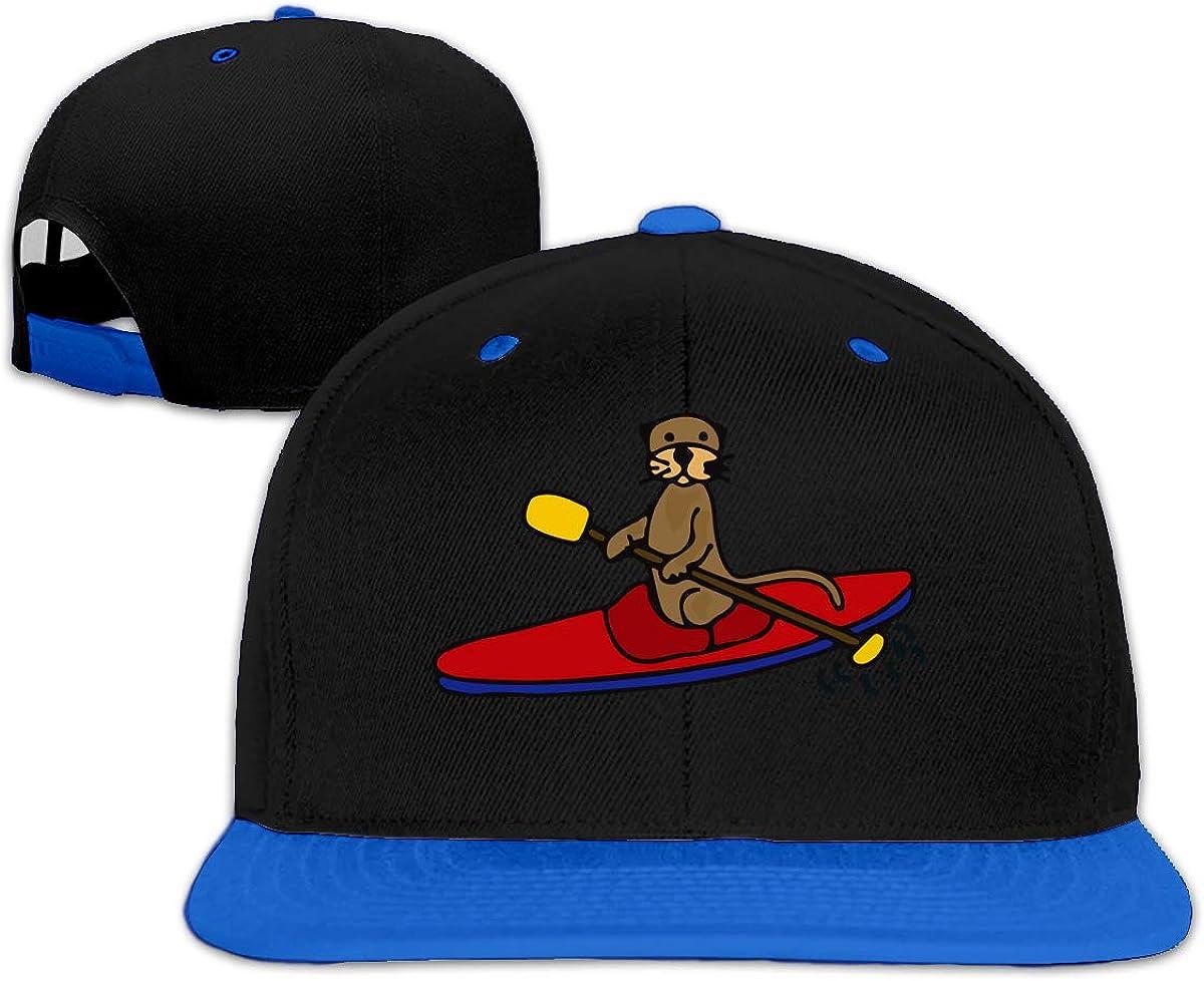 NICKCAT Sea Otter is Kayaking Mens//Womens Flatbrim Baseball Cap Back Cap Hat