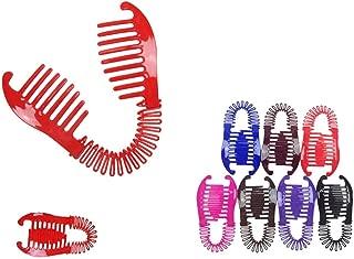Sale 3~60pcs VINTAGE LARGE COMB BANANA CLIP HAIR RISER CLAW LOT INTERLOCKING JAW Lots (3 pcs)