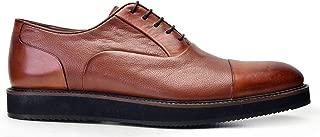 6506-530 KEVA REKLI EVA-Antik Safran 203 - Nov Bsk Nevzat Onay Bağcıklı Safran Rengi Günlük Deri Erkek Ayakkabı