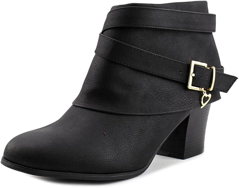 Thalia Sodi kvinnor Tecap Almond Almond Almond Toe Ankle mode stövlar, svart, Storlek 7.0  den mest fashionabla