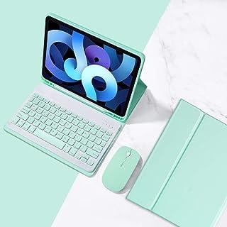 バックライト付き iPad Air4 10.9インチ キーボード ケース マウス 3点セット レディース 可愛い iPadair4 カラーキーボード 分離式 キャンディー色 アイパッドエア4 キーボードカバー Apple Pencil 収納 (...
