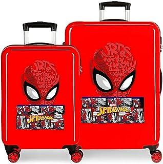 Marvel Spiderman Comic Set de valises Rouge 55/68 cm Rigide ABS Fermeture à combinaison latérale 104 L 2,66 kg 4 roues dou...