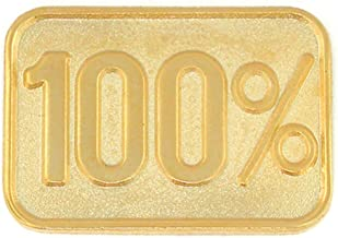 PinMart 100% Gold Corporate Employee Student Recognition Service Lapel Pin