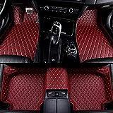 Alfombrillas Coche para Volkswagen Sharan 2010 2011 2012 2013 2014 2015 2016 2017 2018 2019 Seat Alhambra Alfombras Coche Y Moquetas para Coches, Rojo