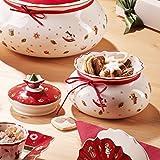Villeroy und Boch Toy's Delight Kleine Vorratsdose, Premium Porzellan, Weiß/Rot - 2