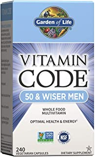 Garden of Life Multivitamin For Men - Vitamin Code 50 & Wiser Men's Raw Whole Food Vitamin Supplement With Probiotics, Veg...