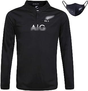 ラグビーウェアのニュージーランドTシャツはオールブラックチームのロングシャツラグビージャージゆったりとした雰囲気の男のジャージ