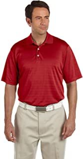adidas Golf Men's Climalite Textured Short-Sleeve Polo