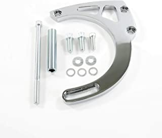 A-Team Performance Long Water Pump Mid-Mount Alternator Bracket Compatible with Chevrolet SBC Small Block Chevy V8, GEN. I, Chrome