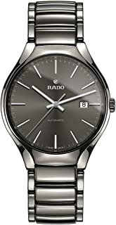 Rado Men's Gray Dial Silver Ceramic Band Watch - R27057102