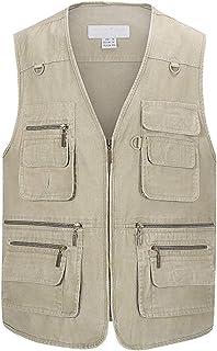 Herenfotografie Gilet, Visvest Denim, Multi Pocket Vest Multi Pocket Vest Outdoor Vissen Bovenkleding Mouwloos Reizen Foto...