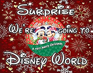 We're Going to Disney World for Christmas 30 Piece Puzzle Red