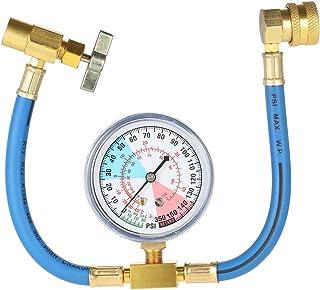 KKmoon Equipo del indicador de la manguera de medición de la recarga del refrigerante del aire acondicionado del coche de la CA R134A