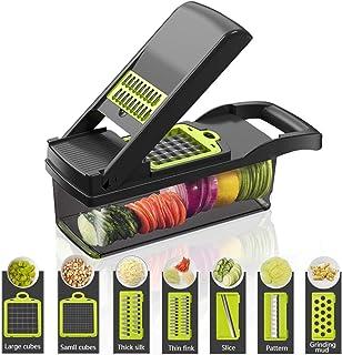 ZJZ Sûr et durable, sans bisphénol A, multifonction, hachoir à légumes, convient pour pommes de terre, oignons et autres l...