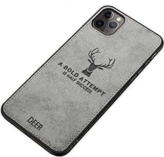 Fabric Cover For iPhone 11 Pro From Deer - Gray