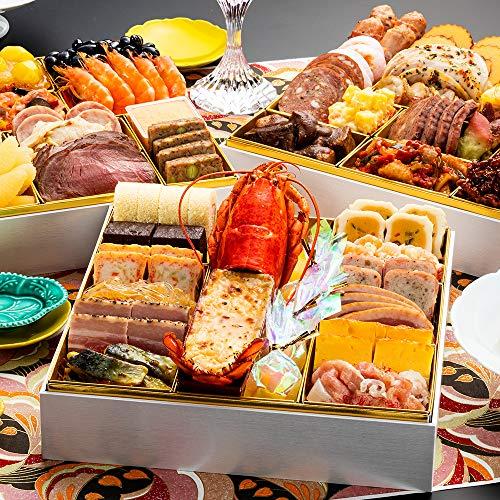 博多久松 洋風定番3段重おせち Akasaka 特大8寸3段重 全45品 おせち料理 お届け日(2020年12月29日)着