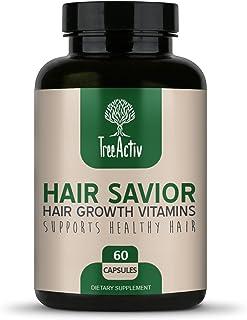 TreeActiv Hair Savior | Biotin + Saw Palmetto Hair Growth Vitamins | Volumizer & Thickening Supplement for Men, Women | Fo...