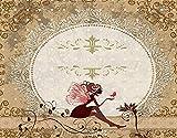 DIY Kits de Pintura de Diamante 5D para Niños y Adultos,Fantasía de cuento de hadas Elf Pixie sentado pétalos de encaje con mari,Arte de la Imagen para la Decor de la Pared del Hogar Regalo,20' x 16'