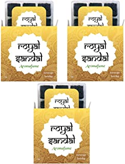Aromafume Royal Sandal Incense Bricks (3 Trays x 9 Pieces Each) | Ideal for Meditation, Purification, Yoga, Relaxation, He...