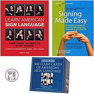 Learn American Sign language Plus 签名 Made Easy and Barron's 500 ASL 工具包