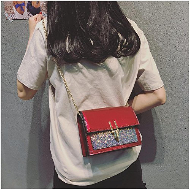 YQOOY Lässige Handtasche Kuriertasche Sommertasche Neue Neue Neue Flut Mini Lackleder Quadratische Tasche Wild Kette Umhängetasche B07CVWRC86  Neue Produkte im Jahr 2019 07ff32