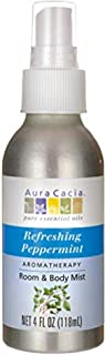 Aura Cacia Refreshing Peppermint Mist | GC/MS Tested for Purity | 118 ml (4 fl. oz.)