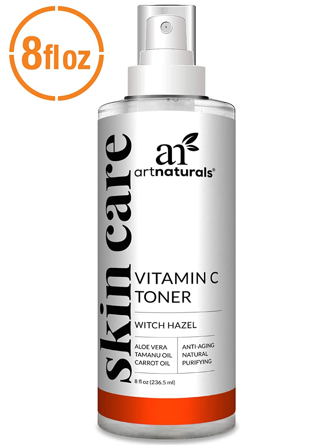 ラベルバンガロー主張ArtNaturals Vitamin C Hydrating Facial Toner Organic Ingredients including Aloe Vera, Witch Hazel, Tea Tree and MSM, for Face, 8 oz