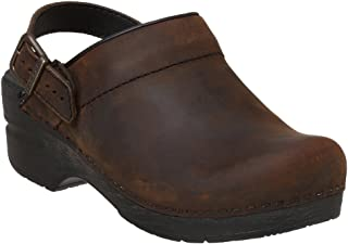 Ingrid Women Mules & Clogs Shoes, Antique�Brown�Oiled, Size - 42