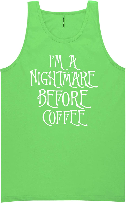 zerogravitee I'm A Nightmare Before Coffee Neon Tank Top