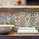 72 piezas Azulejo adhesivo 10x10 cm PS00207 Mosaico de Azulejos Adhesivo de pared Adhesivo...