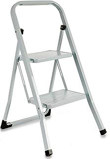 TU TENDENCIA ÚNICA Escalera metálica blanca plegable con