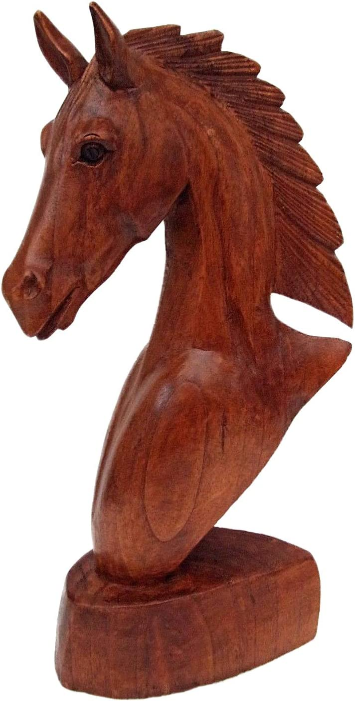 OMA Horse Statue Horse Head Wooden Hand Crafted Sculpture Figuri