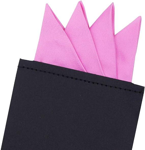 8 piezas de bolsillo cuadrado para hombre de poliéster pre plegado mancha corbata en tarjeta de ramo