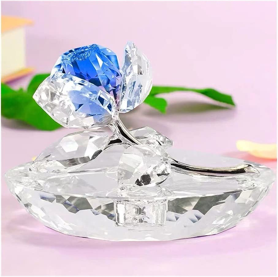 Uspick Collection K9 Crystal Recommended Rose Figurines Glass Miniatu Flower Ranking TOP9