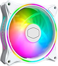 Cooler Master MasterFan MF120 Halo White Edition Duo-Ring Addressable RGB 120mm Fan with 24 Independently-Controlled LEDs,...
