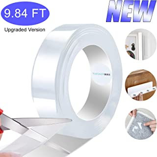 Yuedaer Double-sided Adhesive Tape Heavy-duty Tape Roll, Upgraded New Strong Nano Adhesive Tape Extra Thick for Indoor and Outdoor Use 9.84 FT