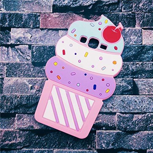 Colorcase - Cover per Samsung Galaxy J3 2016, in TPU, motivo: gelato, colore: Rosa