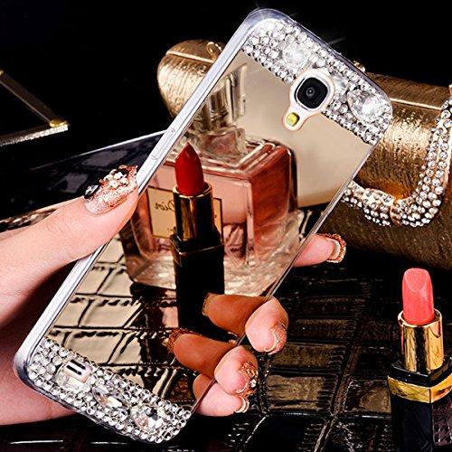 Coque Galaxy S3,Coque Galaxy S3 Neo,ikasus Placage brillant paillettes strass cristal diamant Miroir Silicone Gel TPU Souple Housse Etui de Protection Case Coque Etui pour Galaxy S3/S3 Neo,Or