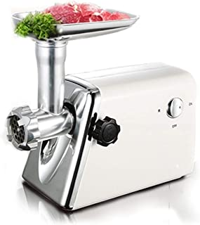 WSJTT Heavy Duty Electric Meat Grinder and Sausage Stuffer Maker with Stainless Steel Cutting Blade and Sausage Stuff