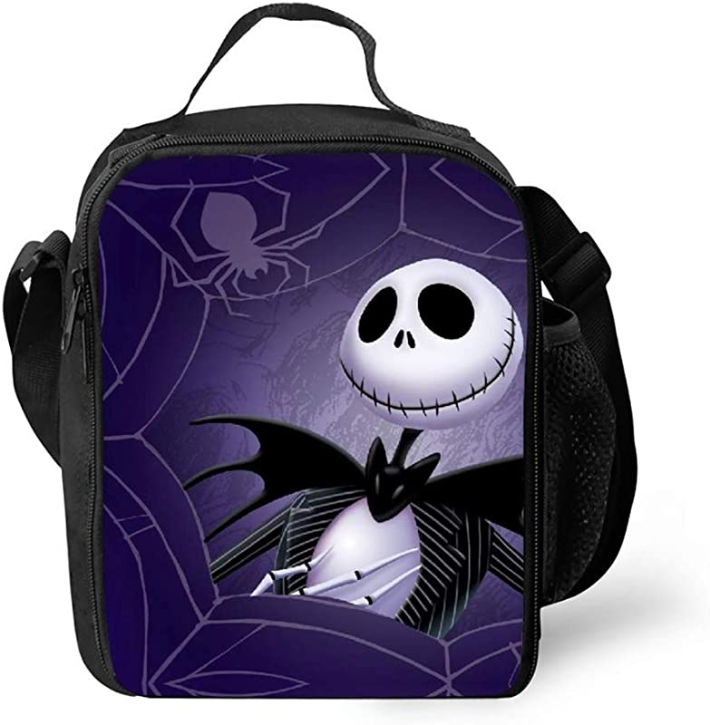 Reusable Nightmare Before Christmas Lunch Tote 10x7 5x3 With Side Inside Pocket