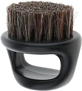 MonkeyJack Salon Barber Wood Bristles Hair Beard Cleansing Grooming Brush Men's Mustache Shaping Comb - Black