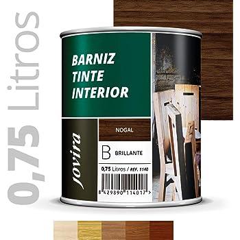 Barniz Madera Exterior | Bio-based Wood Stain | 1 L | Barniz ecológico para todo tipo de madera | Lasur madera exterior | color Tobacco | Flexible y transpirable, resistente al agua