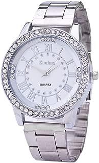 WEUIE Luxury Unisex Crystal Diamond Watches Quartz Digital Rose Gold Silver Stainless Steel Womens Watch