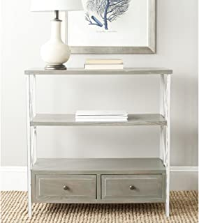 Safavieh American Homes Collection Chandra Console Table, French Grey/White Smoke