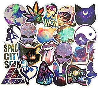Homyu Stickers Pack 42-Pcs Bumper Decals of Graffiti Vinyl Starry Sky for Laptops Cars Motorcycle Portable Luggages Ipad Waterproof Sunlight-Proof