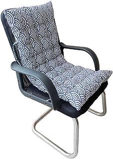 Cojín para tumbona, portátil, grueso, para asiento de asiento para interior y exterior, 90 x 40 x 10 cm (azul)