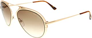 FT0508 Dashel Sunglasses 55 28F Shiny Rose Gold Gradient Brown