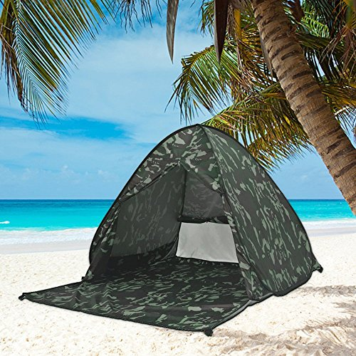 Eplze Automatic Pop Up Beach Tent Instant Portable Quick Cabana Sun Shelter for 2-3 Person (Camouflage)