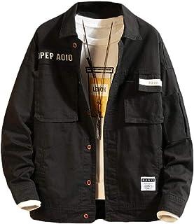 neveraway Men's Button Closure Hiking Lightweight Camo Leisure Coat Jacket
