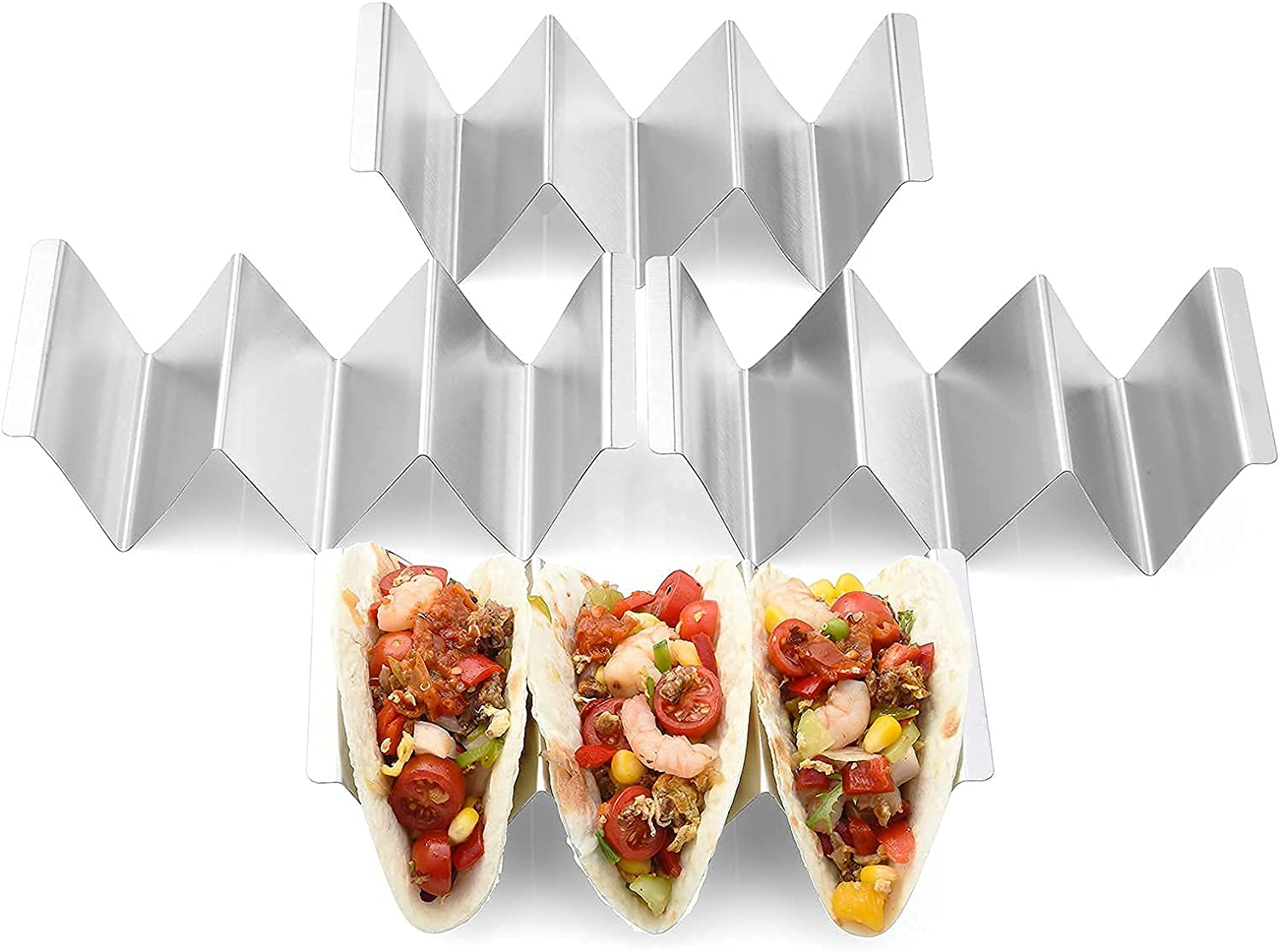 Taco 2021 autumn and winter new Holders 4 Packs - Stainless Steel Tray Styl Rack Stand 25% OFF